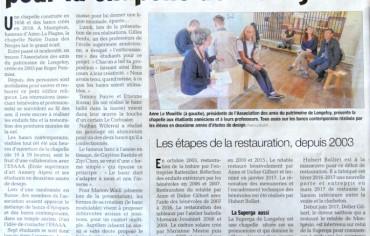 Aime-La Plagne : des bancs contemporains pour la chapelle de Montgésin