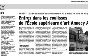 Entrez dans les coulisses de l'École supérieure d'art Annecy Alpes