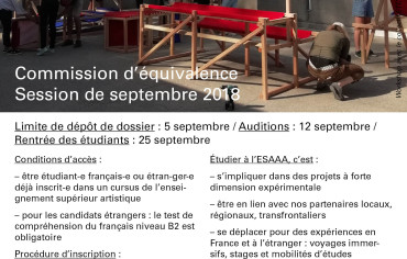 Commission d'équivalence – session de septembre 2018